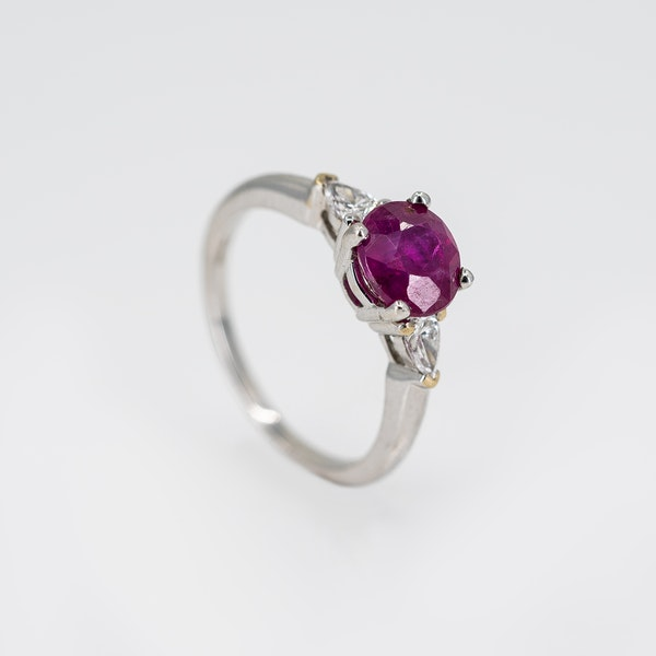 A Fine Burma Ruby Solitaire Ring Offered by The Gilded Lily - image 2