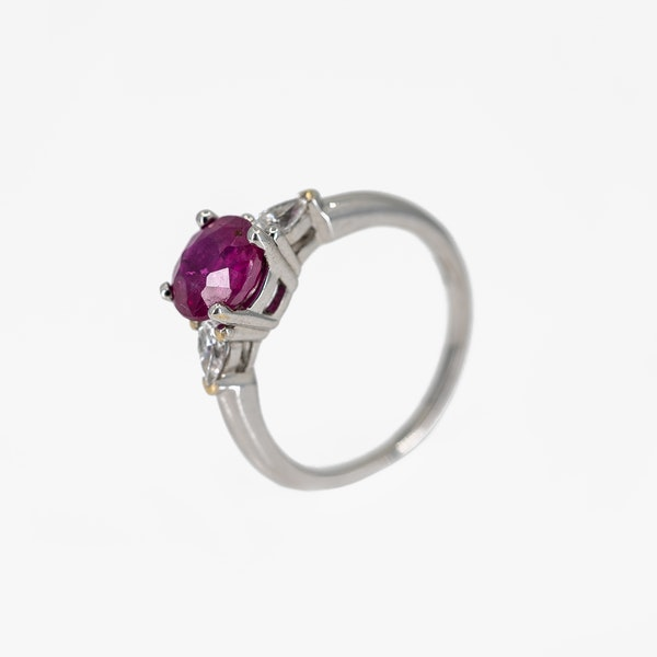 A Fine Burma Ruby Solitaire Ring Offered by The Gilded Lily - image 3