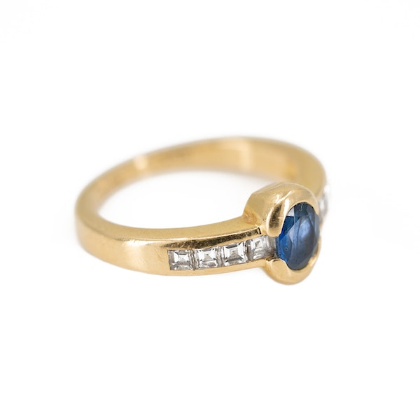 A Sapphire and Diamond Ring by Chaumet, Paris, Offered By The Gilded Lily - image 2
