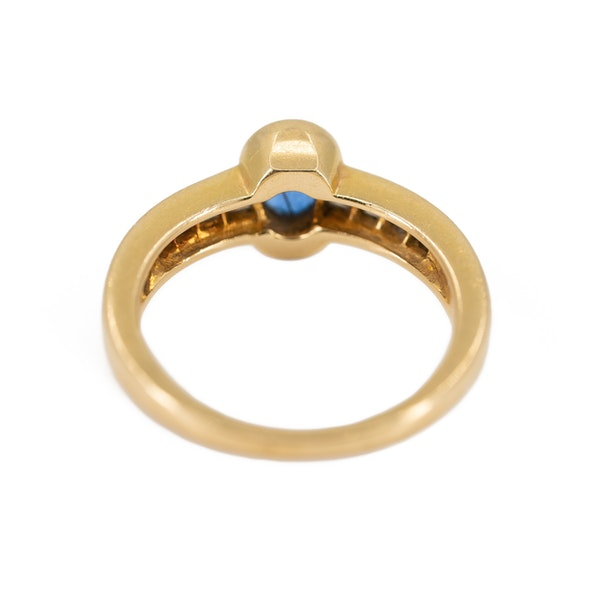 A Sapphire and Diamond Ring by Chaumet, Paris, Offered By The Gilded Lily - image 5