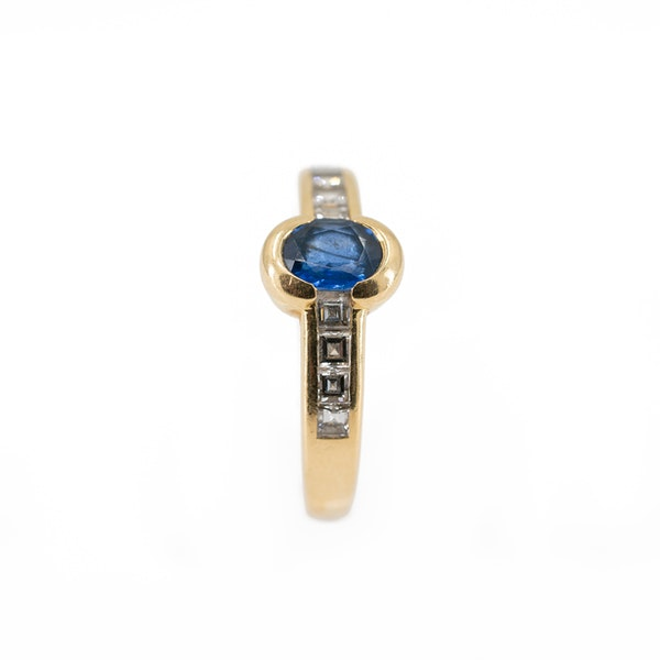 A Sapphire and Diamond Ring by Chaumet, Paris, Offered By The Gilded Lily - image 3