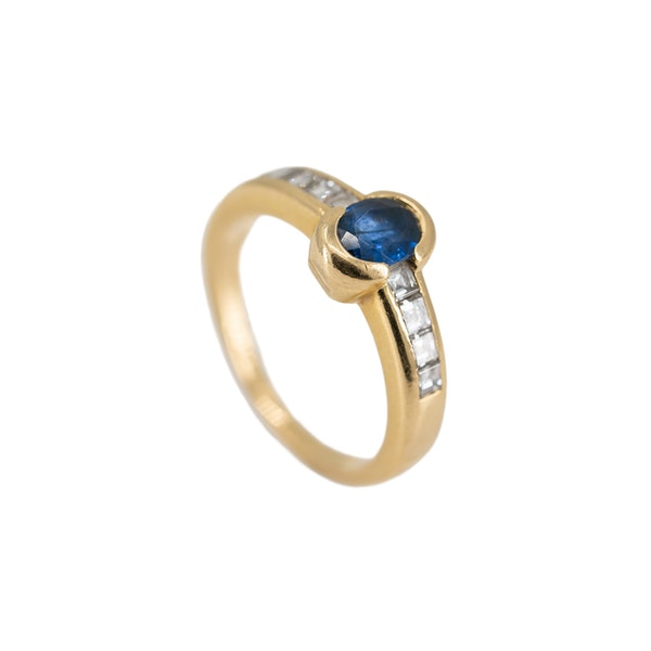 A Sapphire and Diamond Ring by Chaumet, Paris, Offered By The Gilded Lily - image 4