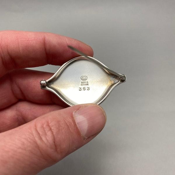 Georg Jensen Brooch in Silver date post 1945 mark SHAPIRO & Co since1979 - image 5