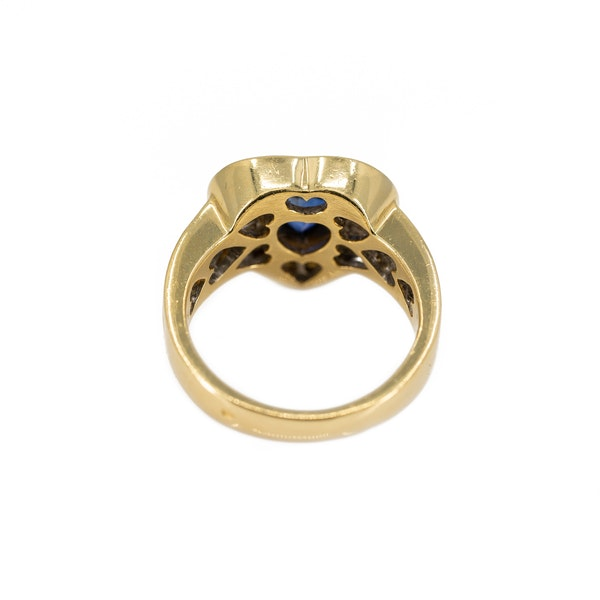 A Heart Shaped Sapphire and Diamond Ring Offered by The Gilded Lily - image 4