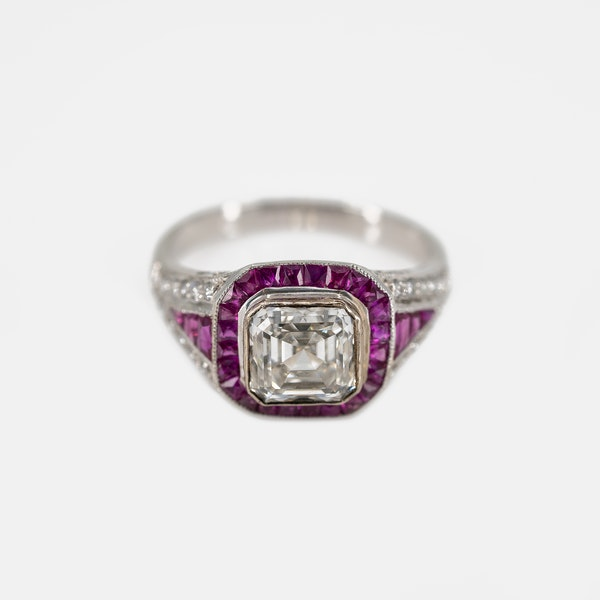 An Asscher Cut Diamond Ring Offered By The Gilded Lily - image 1