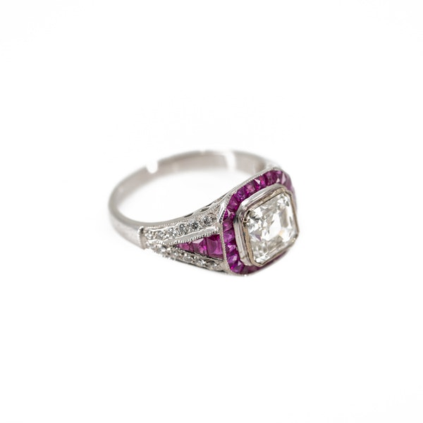 An Asscher Cut Diamond Ring Offered By The Gilded Lily - image 2
