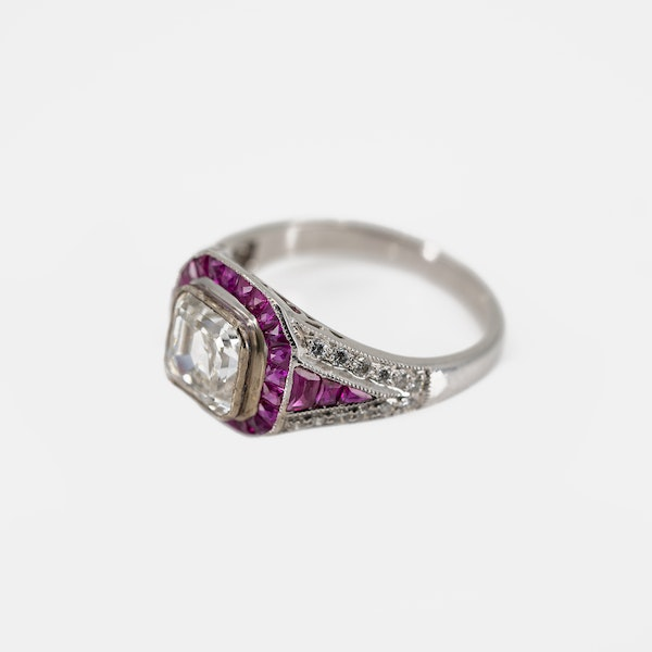 An Asscher Cut Diamond Ring Offered By The Gilded Lily - image 3