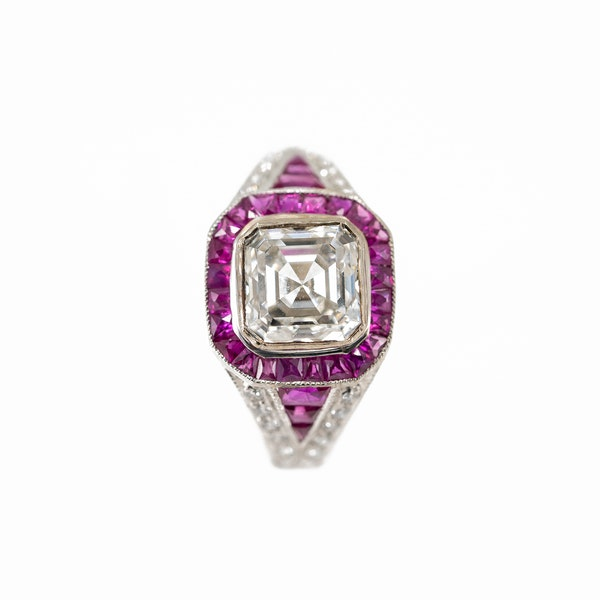 An Asscher Cut Diamond Ring Offered By The Gilded Lily - image 5