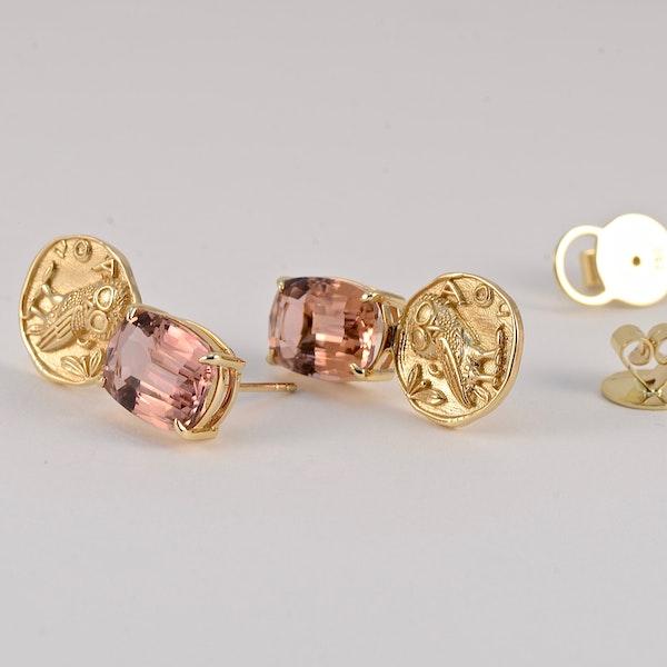Tourmaline Earrings in 18k Yellow Gold by Lilly Shapiro, SHAPIRO & Co since1979 - image 3