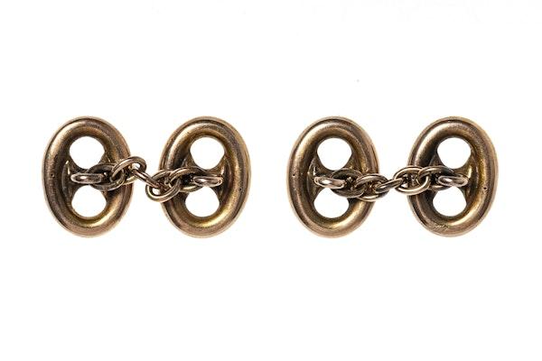 Victorian Anchor Chain Cufflinks - image 2