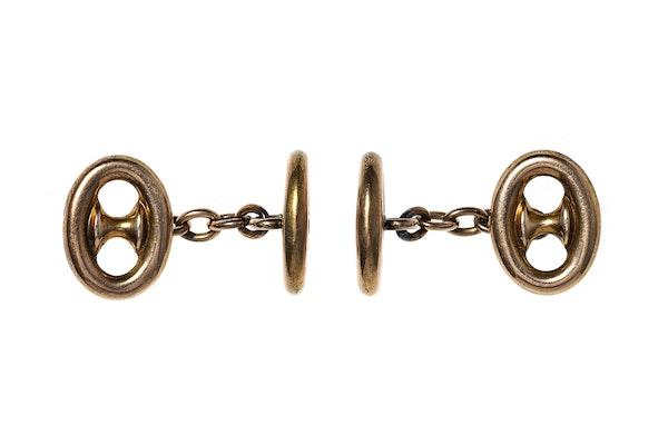 Victorian Anchor Chain Cufflinks - image 3