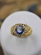 A very fine Natural Sapphire and Diamond Ring mounted in 18ct Yellow Gold, French, Circa 1960 - image 3