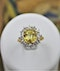 A very fine Natural Yellow Sapphire & Diamond Ring set in 18ct White & Yellow Gold, Circa 1985 - image 4