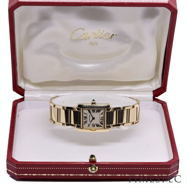 Cartier Tank Francaise Small Model 18k Yellow Gold 20mm Ref. 2385. Ladies - image 8
