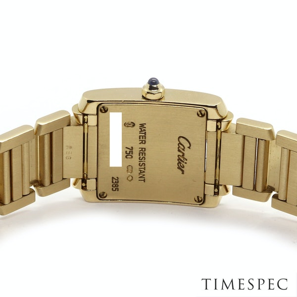 Cartier Tank Francaise Small Model 18k Yellow Gold 20mm Ref. 2385. Ladies - image 6