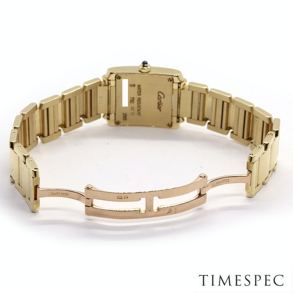 Cartier Tank Francaise Small Model 18k Yellow Gold 20mm Ref. 2385. Ladies - image 7
