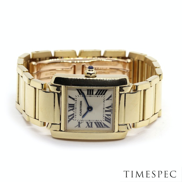 Cartier Tank Francaise Small Model 18k Yellow Gold 20mm Ref. 2385. Ladies - image 4