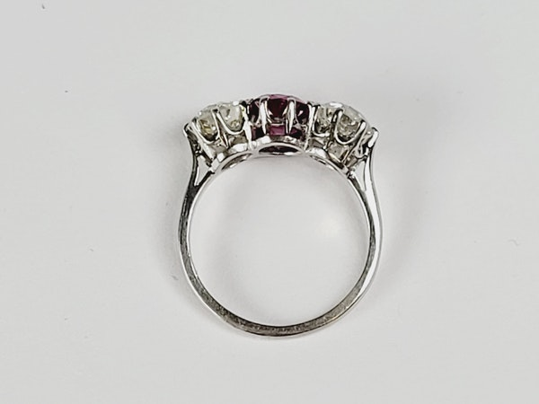 Burmese ruby and diamond ring sku 4923  DBGEMS - image 2
