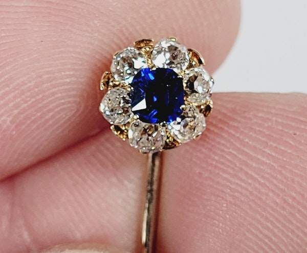 Antique sapphire and diamond stick pin sku 4925  DBGEMS - image 3