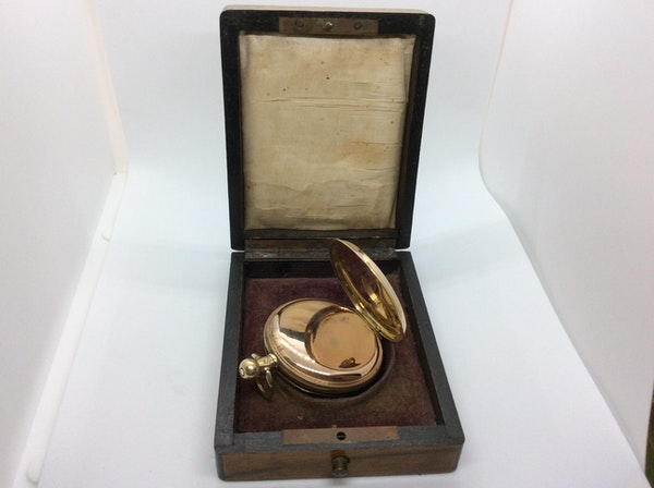 A gold plated Elgin pocket watch - image 5
