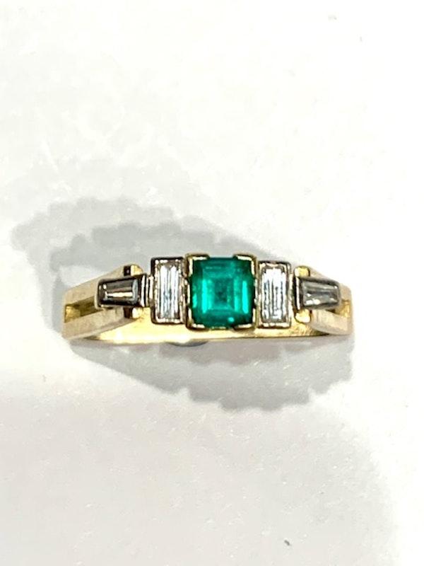 Emerald and diamond unique ring. Spectrum - image 6