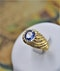 A very fine Natural Sapphire and Diamond Ring mounted in 18ct Yellow Gold, French, Circa 1960 - image 4