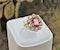 An extraordinary and rare 3.00 Carat Natural Pink Spinel & Diamond Cluster Ring set in 18 Carat Yellow Gold, Circa 1900 - image 2
