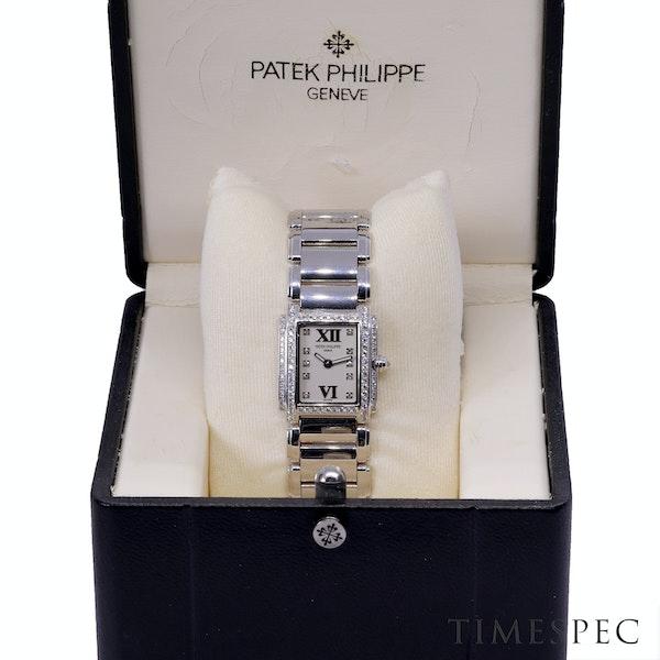Patek Philippe Twenty~4 Ref 4908 18K White Gold &Diamond Quartz Movement. Ladies - image 7