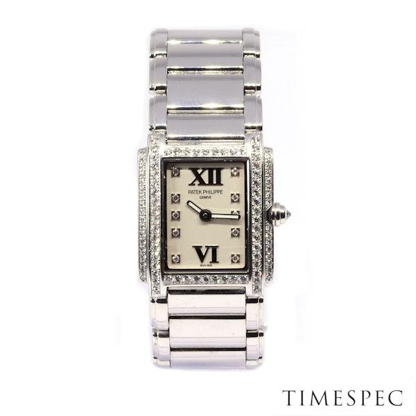 Patek Philippe Twenty~4 Ref 4908 18K White Gold &Diamond Quartz Movement. Ladies - image 2