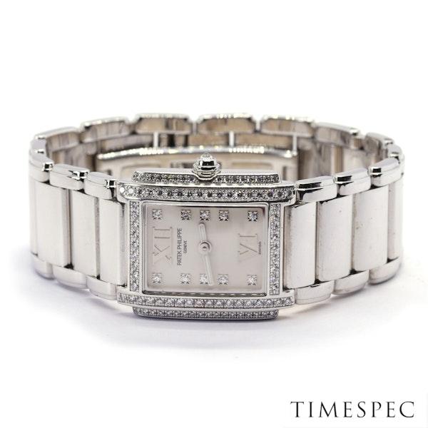 Patek Philippe Twenty~4 Ref 4908 18K White Gold &Diamond Quartz Movement. Ladies - image 4