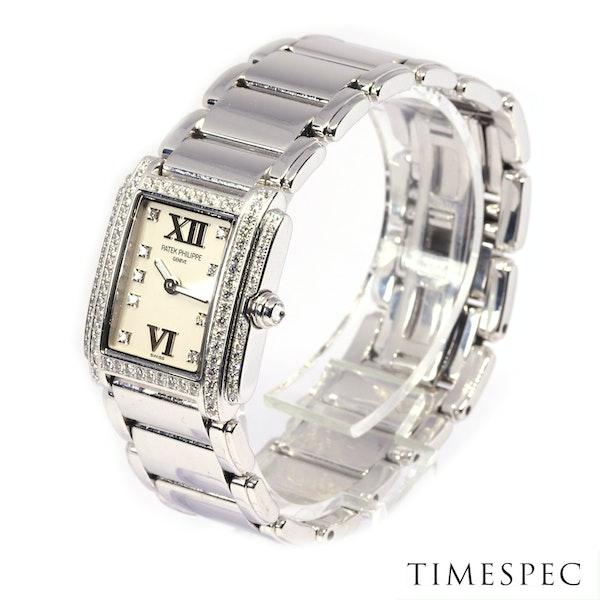 Patek Philippe Twenty~4 Ref 4908 18K White Gold &Diamond Quartz Movement. Ladies - image 3