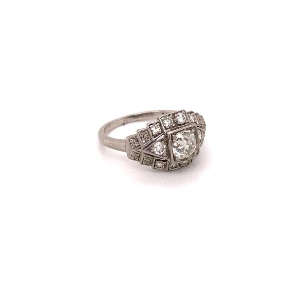 Stylish, Art Deco Ring Ca1920-35 - image 2