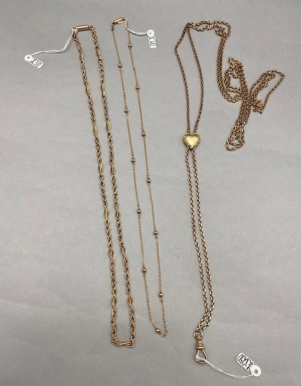 Long Guard Chain in 15ct Gold date circa 1890 SHAPIRO & Co since1979 - image 6