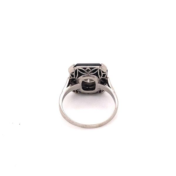 Art Deco Onyx and 'Transition cut' Diamond Ring Ca1920-35 - image 4