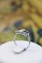 A very beautiful Art Deco 0.75 Carat Diamond and Sapphire Ring mounted in Platinum, English, Circa 1925 - image 3