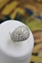 A very stylish Diamond Demi-Bombe Ring mounted in 18 Carat Yellow & White Gold, French, Circa 1980 - image 2