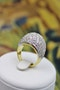 A very stylish Diamond Demi-Bombe Ring mounted in 18 Carat Yellow & White Gold, French, Circa 1980 - image 3