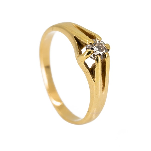 Victorian diamond solitaire ring - image 2