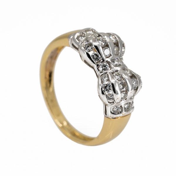Diamond twin cluster ring - image 2