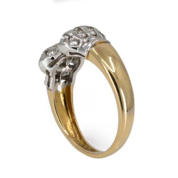 Diamond twin cluster ring - image 3