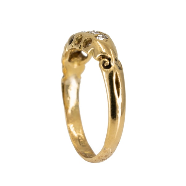 Victorian 5 stone diamond ring - image 3