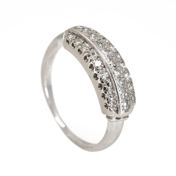 Art Deco 3 row diamond ring - image 2