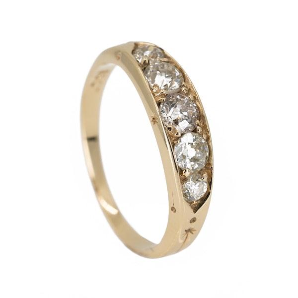 Antique 5 stone diamond ring - image 2