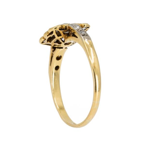 Art Deco rectangular diamond cluster ring - image 3