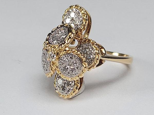 Ben Rosenfeld 1976 diamond set dress ring sku 4938  DBGEMS - image 2
