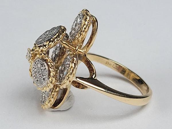 Ben Rosenfeld 1976 diamond set dress ring sku 4938  DBGEMS - image 3