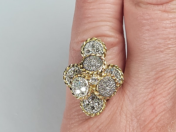 Ben Rosenfeld 1976 diamond set dress ring sku 4938  DBGEMS - image 4