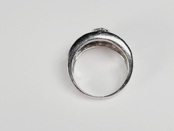 Wide lattice diamond dress ring sku 4937  DBGEMS - image 3