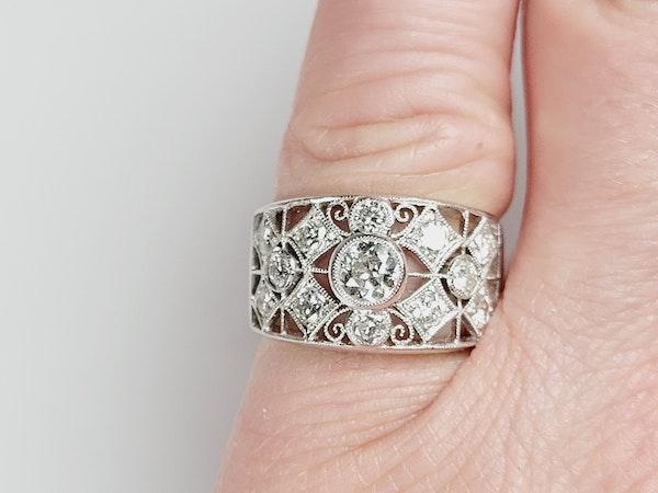 Wide lattice diamond dress ring sku 4937  DBGEMS - image 4
