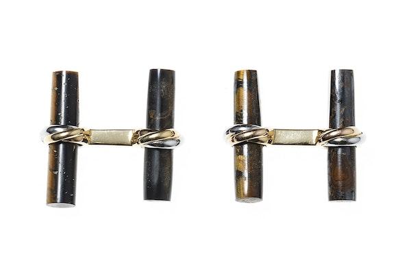 Vintage Cartier Baton Cufflink Set in 18 Carat Gold - image 4